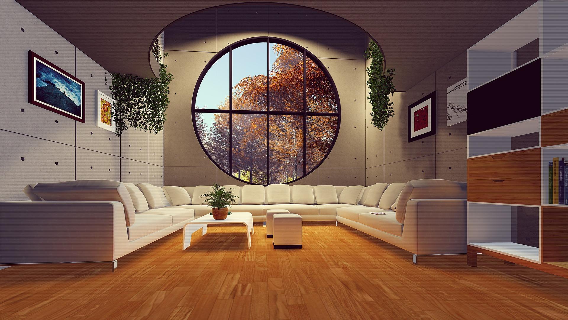 Colored interior decoration